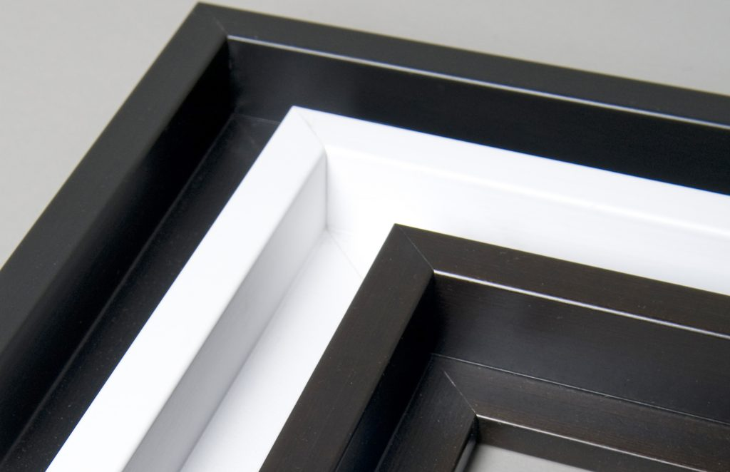 A small selection of Canvas box frames - black and white.