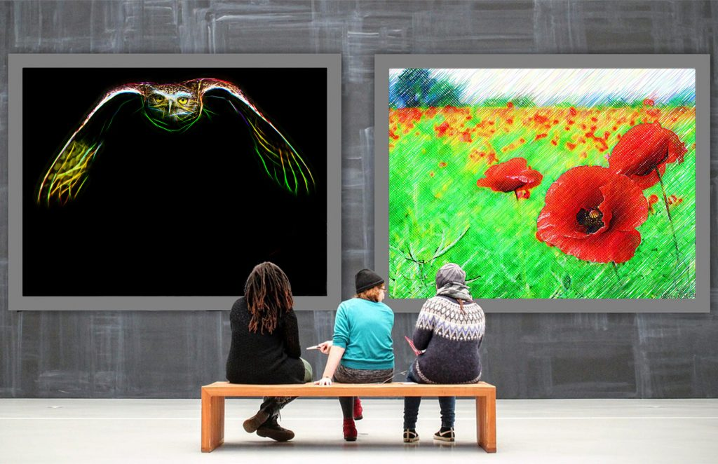 Electric Owl and Poppies - Virtual Gallery