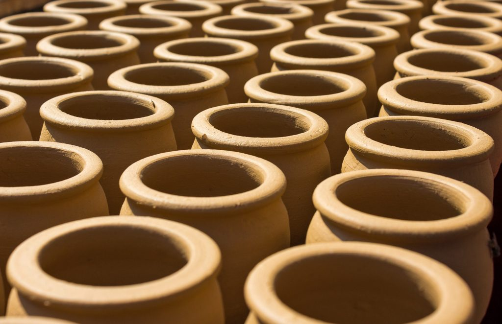 A group of clay pots illustrating that limited editions are important - but how many are in the edition?